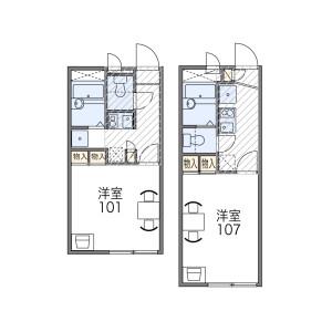 1K Apartment in Tomoi - Higashiosaka-shi Floorplan
