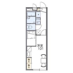 1K Apartment in Takenochi - Naka-shi Floorplan