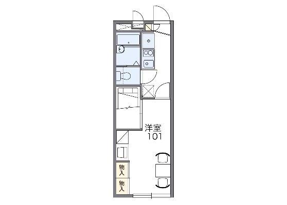 1K Apartment to Rent in Naka-shi Floorplan