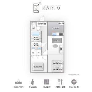 KARIO SASAZUKA TERRACE - Serviced Apartment, Shibuya-ku Floorplan
