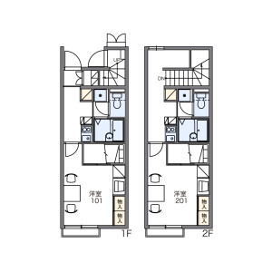 1K Apartment in Okubo - Gamo-gun Hino-cho Floorplan