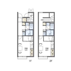 1K Apartment in Higashiisoyama - Suzuka-shi Floorplan