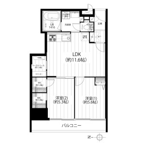 2LDK {building type} in Nakano - Nakano-ku Floorplan