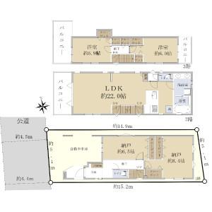 2LDK {building type} in Chuo - Nakano-ku Floorplan