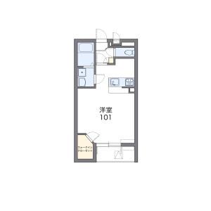 1K Mansion in Higashitanaka - Gotemba-shi Floorplan