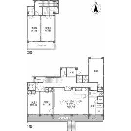 4LDK {building type} in Ueno ueno - Miyakojima-shi Floorplan