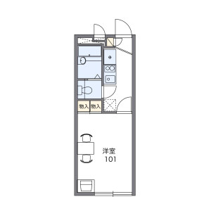 1K Apartment in Matsuhidai - Matsudo-shi Floorplan