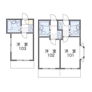 1K Mansion in Midoricho - Hachioji-shi Floorplan