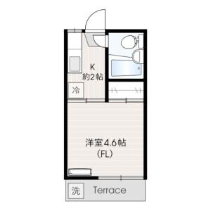 1K Apartment in Mizonokuchi - Kawasaki-shi Takatsu-ku Floorplan