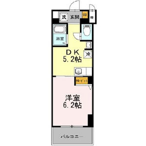 1DK Mansion in Kozu - Osaka-shi Chuo-ku Floorplan