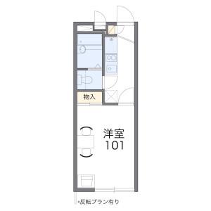 大田区仲池上-1K公寓 楼层布局