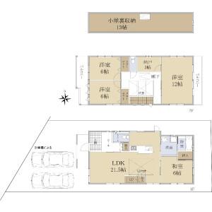 京都市伏見区桃山井伊掃部東町-4SLDK{building type} 楼层布局