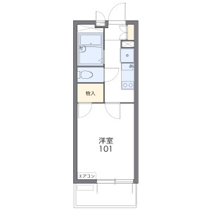 1K Mansion in Kamoe - Hamamatsu-shi Naka-ku Floorplan