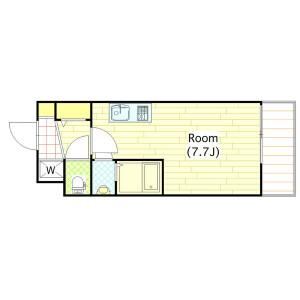 1R Mansion in Tojocho - Osaka-shi Tennoji-ku Floorplan