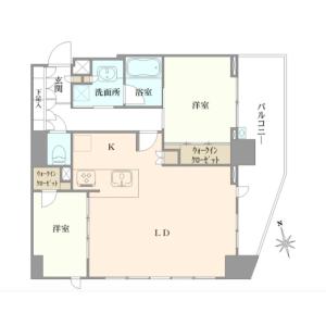 2LDK {building type} in Takanawa - Minato-ku Floorplan
