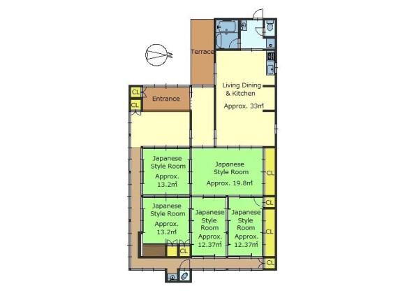 5LDK House to Buy in Nantan-shi Floorplan