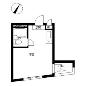 1R Mansion in Nakameguro - Meguro-ku Floorplan