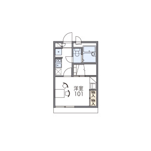 1K Apartment in Showacho - Osaka-shi Abeno-ku Floorplan
