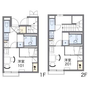 1K Apartment in Soshigaya - Setagaya-ku Floorplan