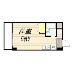 1R Mansion in Nishikicho - Tachikawa-shi Floorplan