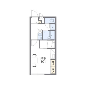 1K Apartment in Yanagiyama tsuoki - Tsu-shi Floorplan