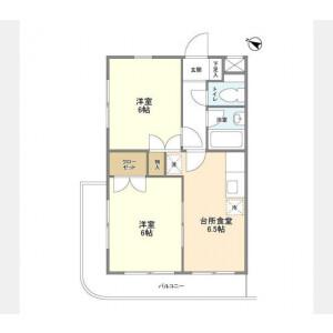 2DK Apartment in Koyasumachi - Hachioji-shi Floorplan