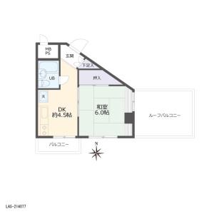 1DK {building type} in Nakamurakita - Nerima-ku Floorplan