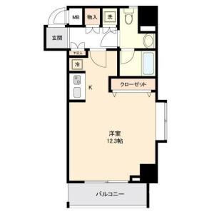 1R Mansion in Minamisenju - Arakawa-ku Floorplan