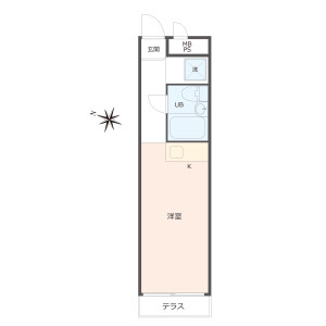1R {building type} in Yoyogi - Shibuya-ku Floorplan