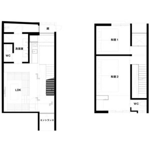2LDK {building type} in Nishisuyacho - Kyoto-shi Shimogyo-ku Floorplan