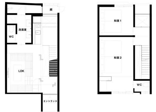 在京都市下京區購買2LDK 酒店飯店/旅館的房產 房間格局