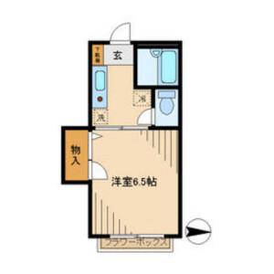 1K Apartment in Manganji - Hino-shi Floorplan