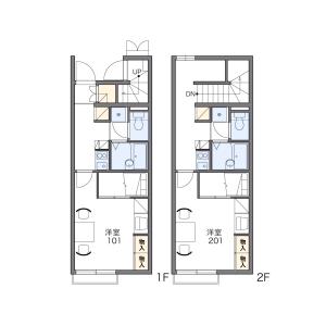1K Apartment in Akasaka - Kitakyushu-shi Kokurakita-ku Floorplan