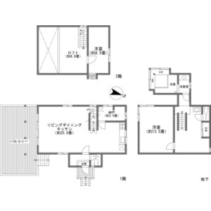 2LDK {building type} in Kitayama(sonota) - Chino-shi Floorplan