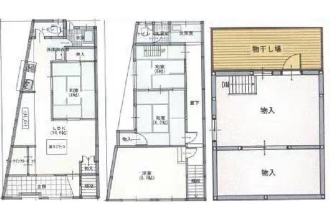 Whole Building House to Buy in Osaka-shi Tennoji-ku Interior