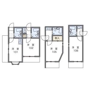 1K 아파트 in Nishisugamo - Toshima-ku Floorplan