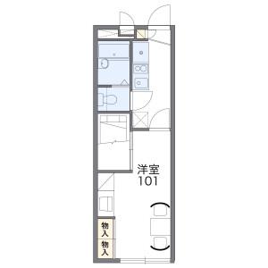 1K Apartment in Kurima machiyacho - Tsu-shi Floorplan