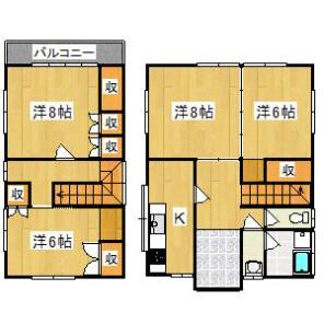 4K House in Kiyokawacho - Choshi-shi Floorplan