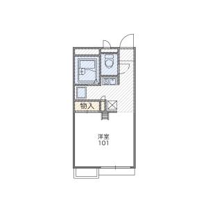 1K Apartment in Nogami - Takarazuka-shi Floorplan