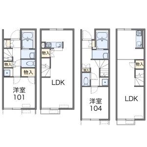 1LDK Apartment in Kusucho hongo - Yokkaichi-shi Floorplan