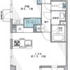 在涩谷区购买1LDK 公寓大厦的 楼层布局