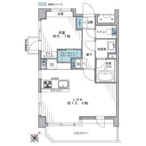 涩谷区円山町-1LDK{building type} 楼层布局