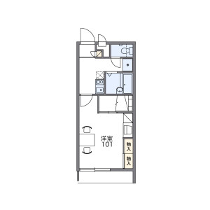 1K Mansion in Ojana - Ginowan-shi Floorplan