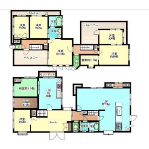 7SLDK {building type} in Aoyamadai - Suita-shi Floorplan