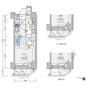 1K Mansion in Konemoto - Matsudo-shi Floorplan