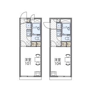 1K Apartment in Sugimoto - Osaka-shi Sumiyoshi-ku Floorplan