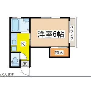 丰岛区池袋(2〜4丁目)-1K公寓大厦 楼层布局