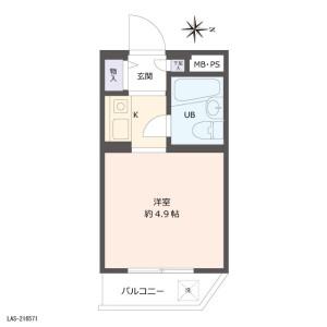1R {building type} in Nagasaki - Toshima-ku Floorplan