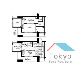 1SLDK Mansion in Tomigaya - Shibuya-ku Floorplan
