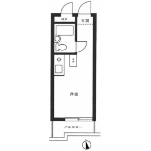 1R {building type} in Arai - Nakano-ku Floorplan